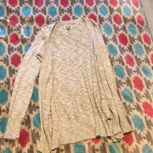 Cream over shirts cardigan